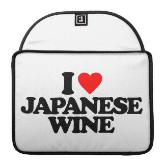 I LOVE JAPANESE WINE MacBook PRO SLEEVES