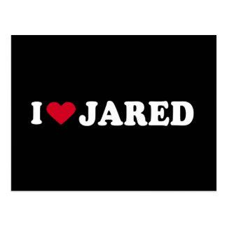 I LOVE JARED POSTCARD