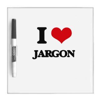 I Love Jargon Dry Erase Whiteboards