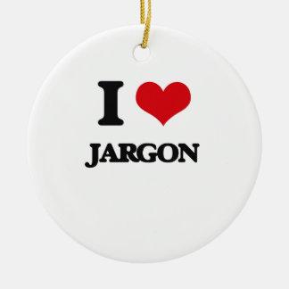 I Love Jargon Ornament