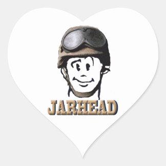 I Love Jarhead Heart Sticker