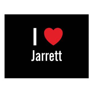 I love Jarrett Postcard