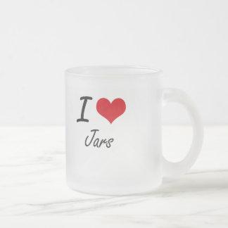 I Love Jars 10 Oz Frosted Glass Coffee Mug