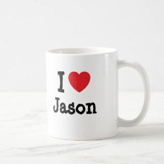 I love Jason heart custom personalized Mugs