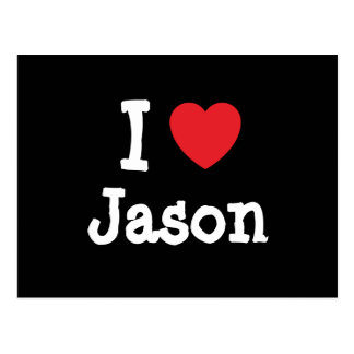 I love Jason heart T-Shirt Postcard