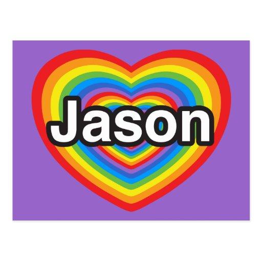 I love Jason. I love you Jason. Heart Postcard