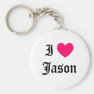 I Love Jason Keychain