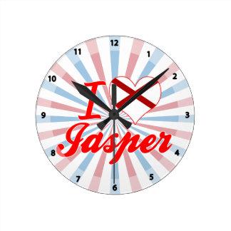 I Love Jasper, Alabama Wall Clock