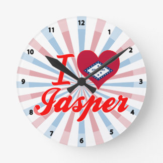 I Love Jasper, Arkansas Wall Clock