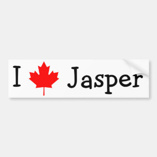 I Love Jasper Bumper Sticker