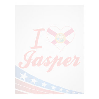 I Love Jasper, Florida Letterhead Design