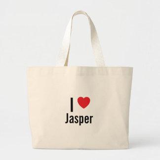 I love Jasper Large Tote Bag