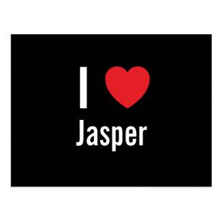 I love Jasper Postcard