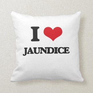 I Love Jaundice Throw Pillows