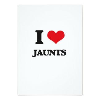 I Love Jaunts 5x7 Paper Invitation Card
