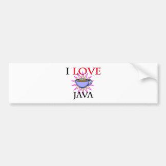 I Love Java Car Bumper Sticker