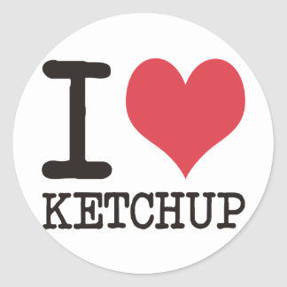 I Love JAVA - KETCHUP - KITTY Products & Designs! Classic Round Sticker