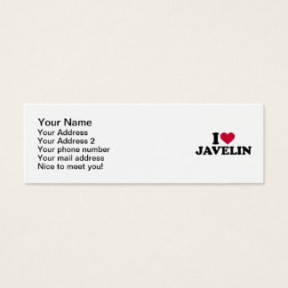 I love Javelin Mini Business Card