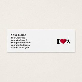 I love Javelin throw Mini Business Card