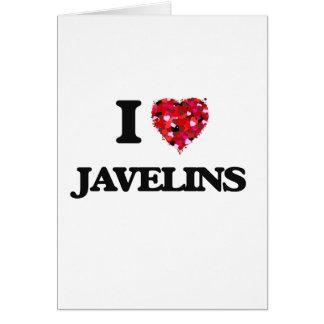 I Love Javelins Greeting Card
