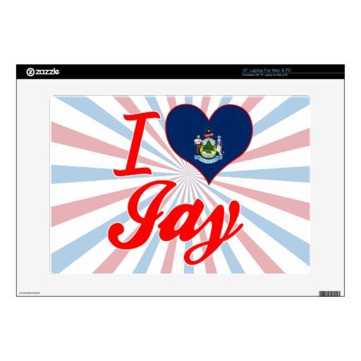 I Love Jay, Maine Laptop Skin