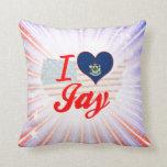 I Love Jay, Maine Pillow