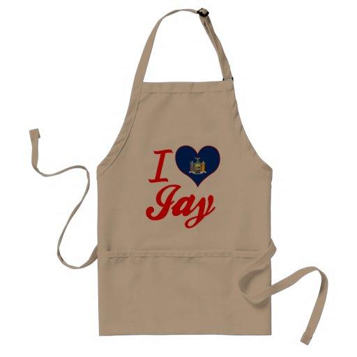 I Love Jay, New York Aprons