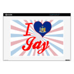 I Love Jay, New York Decal For Laptop