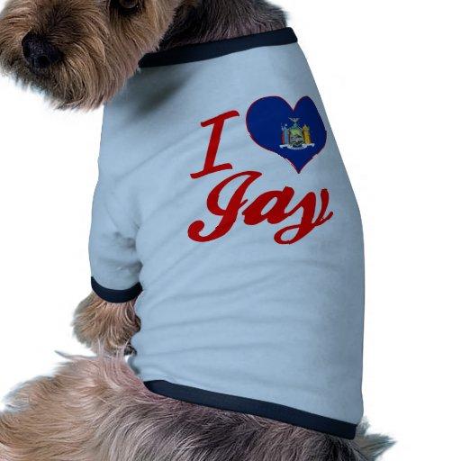 I Love Jay, New York Doggie T Shirt