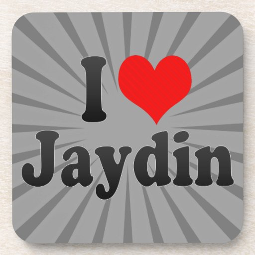 I love Jaydin Drink Coasters