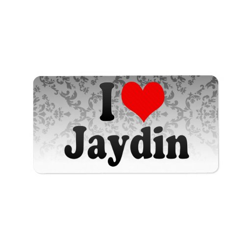 I love Jaydin Personalized Address Label