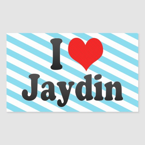 I love Jaydin Sticker