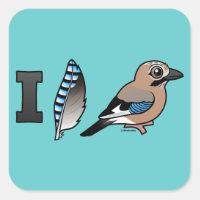 I Love Jays Square Sticker