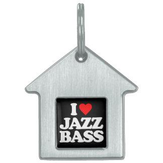 I LOVE JAZZ BASS PET ID TAG