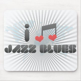 I Love Jazz Blues Mouse Pads