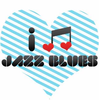 I Love Jazz Blues Photo Cutouts