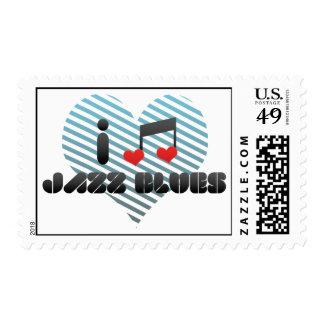 I Love Jazz Blues Postage