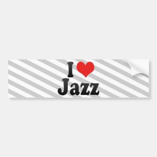 I Love Jazz Car Bumper Sticker