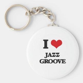 I Love JAZZ GROOVE Keychain