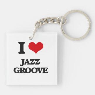I Love JAZZ GROOVE Acrylic Key Chains