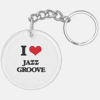 I Love JAZZ GROOVE Acrylic Keychain