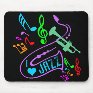 I LOVE JAZZ MOUSE PAD