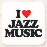 "I LOVE JAZZ MUSIC SQUARE PAPER COASTER<br><div class=""desc"">I LOVE JAZZ MUSIC</div>"