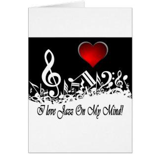 I Love jazz On My Mind City Scape Card