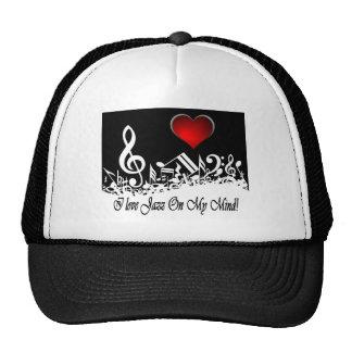 I Love jazz On My Mind City Scape Mesh Hats