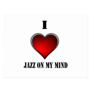 I Love Jazz On My Mind Postcard