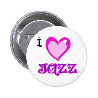I LOVE Jazz Pinback Button