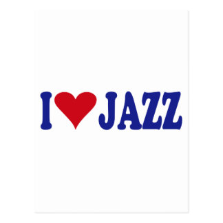 I Love Jazz Postcard