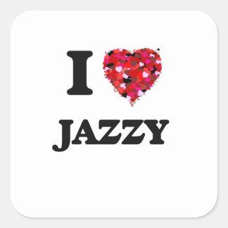 I Love Jazzy Square Sticker
