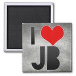 I Love JB Fridge Magnet